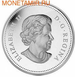 Канада 25 центов 2013. Сова (фото, вид 1)