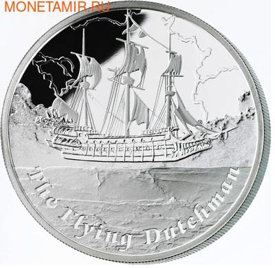 Тувалу 1 доллар 2013.Корабль – Летучий Голландец (FLYING DUTCHMAN) серия Знаменитые корабли которые никогда не ходили в плавание.Арт.000294244224/60 (фото, вид 1)