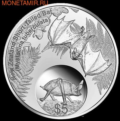 """Новая Зеландия 5 долларов 2013. """"Короткохвостая летучая мышь"""" (фото, вид 1)"""