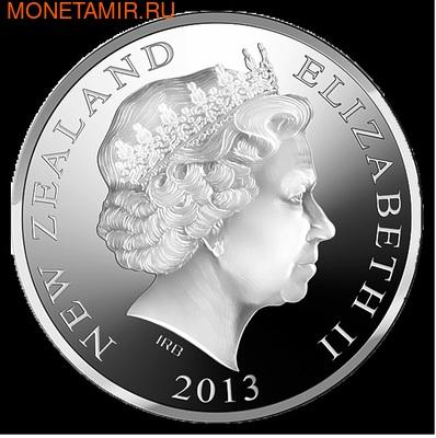 """Новая Зеландия 5 долларов 2013. """"Короткохвостая летучая мышь"""" (фото, вид 2)"""
