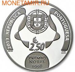 Португалия 2,5 евро 2013.Хосэ Сарамаго.Арт.60 (фото, вид 1)