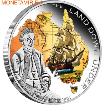 Австралия 1 доллар 2013. Корабль (фото, вид 1)