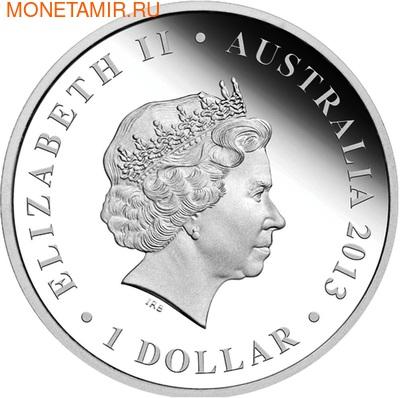 Австралия 1 доллар 2013. Корабль (фото, вид 2)