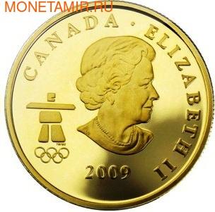 Канада 75 долларов 2009. Серия: Ванкувер – 2010. Лось (фото, вид 1)