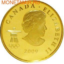 Канада 75 долларов 2009. Серия: Ванкувер – 2010. Волк (фото, вид 1)
