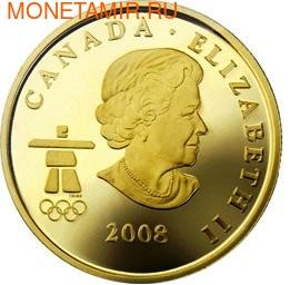 Канада 75 долларов 2008. Серия: Ванкувер – 2010. Инукшук (фото, вид 1)