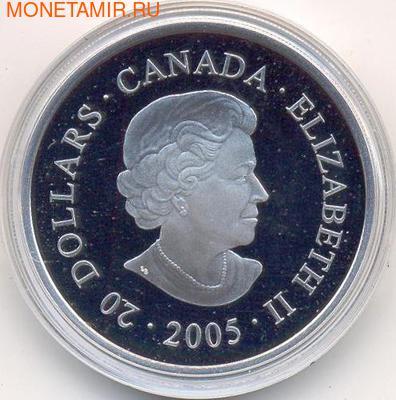 """Канада 20 долларов 2005. Коллекция """"Национальные парки"""" Орел (фото, вид 2)"""