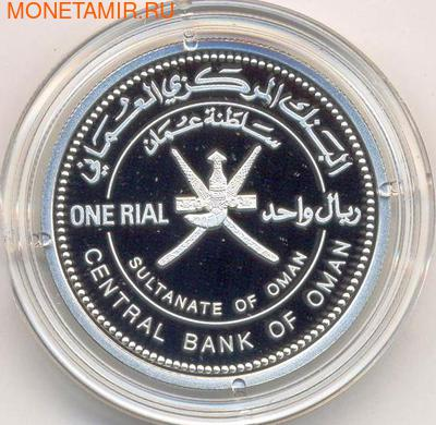 Оман 1 риал 2002. Козел (фото, вид 1)