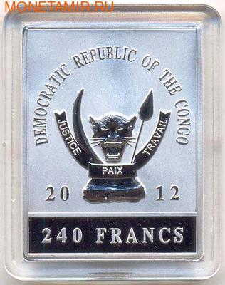 Демократическая республика Конго 240 франков 2012. Набор картин о Наполеоне. (фото, вид 1)