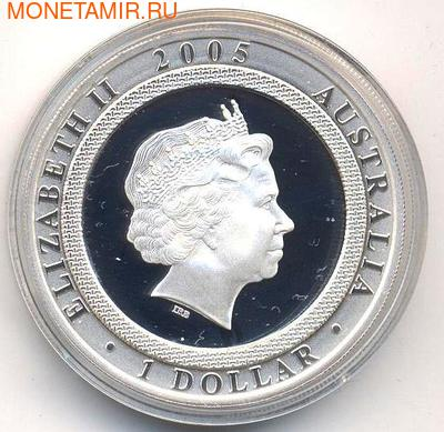 "Австралия 1 доллар 2005. ""Танцующий человек"" (фото, вид 1)"