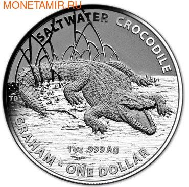 Австралия 1 доллар 2014. Австралийский Морской Крокодил - Грэм.Арт.000177944738 (фото, вид 1)