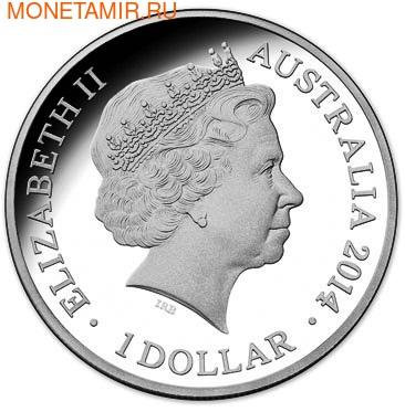 Австралия 1 доллар 2014. Год Лошади.Арт.000215444743 (фото, вид 2)