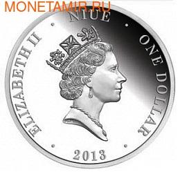 Ниуэ 1 доллар 2013. Открытие нефти в Австралии (фото, вид 1)