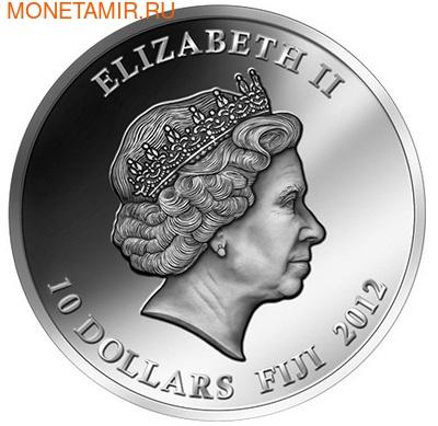 Фиджи 10 долларов 2012. Белые тигры. (фото, вид 2)