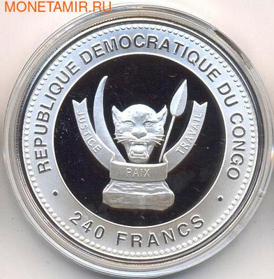 Демократическая Республика Конго 3х240 франков 2012. Набор монет: «Лунный календарь» Драконы Лу, Фу, Шу (фото, вид 1)
