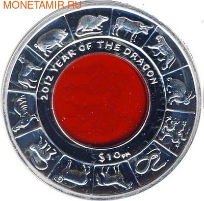 Британские Виргинские острова 10 долларов 2012. Год Дракона. (фото, вид 1)