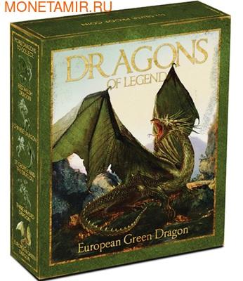 Тувалу 1 доллар 2013.Европейский зелёный дракон - Драконы из легенд.Арт.000326943248/60 (фото, вид 2)