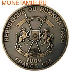 Буркина-Фасо 1000 франков 2013. Священный крокодил. (фото, вид 1)