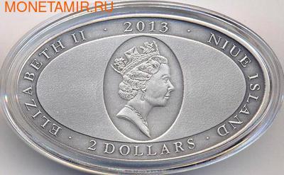 Ниуэ 2 доллара 2013. Глаз крокодила. Высокий рельеф (фото, вид 1)