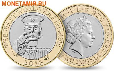 Великобритания Полный Годовой Набор 2014 (The 2014 UK Brilliant Uncirculated Annual Coin Set).Арт.60 (фото, вид 3)