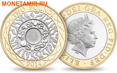 Великобритания Полный Годовой Набор 2014 (The 2014 UK Brilliant Uncirculated Annual Coin Set).Арт.60 (фото, вид 4)