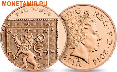 Великобритания Полный Годовой Набор 2014 (The 2014 UK Brilliant Uncirculated Annual Coin Set).Арт.60 (фото, вид 13)