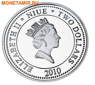 Ниуэ 2 доллара 2010.Владимир Высоцкий (фото, вид 1)