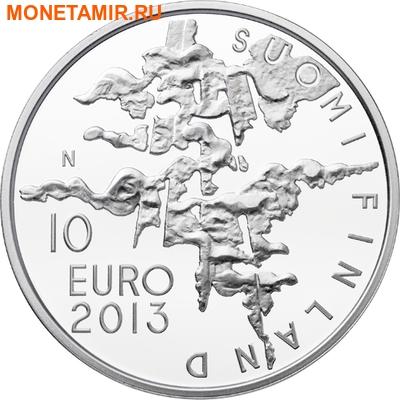 """Финляндия 10 евро 2013.""""Ээро Ярнефельт. 150 лет со дня рождения.""""Арт.000224245776 (фото, вид 1)"""