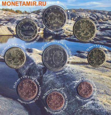 """Финляндия 2014.""""Годовой набор евро"""".Арт.000103946286 (фото, вид 1)"""