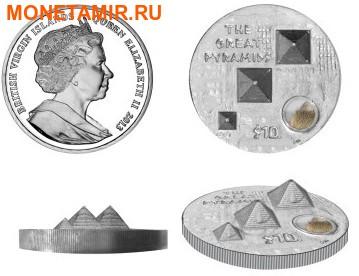 """Британские Виргинские Острова 10 долларов 2013.""""Великие Пирамиды""""-3D.Арт.000663046719 (фото, вид 2)"""