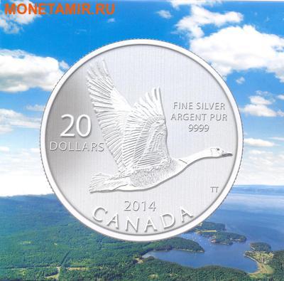 """Канада 20 долларов 2014.""""Гусь"""".Арт.000077846281/60 (фото, вид 1)"""