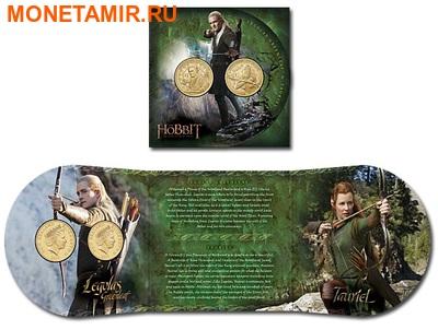 Новая Зеландия 1 доллар 2013. Набор из 2 никелевых монет. «Хоббит: Пустошь Смауга».Арт.000166346300 (фото, вид 3)