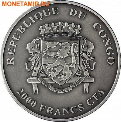 Конго Республика 2000 франков 2013.Бегемот c детенышем.Арт.001031446966/60 (фото, вид 1)