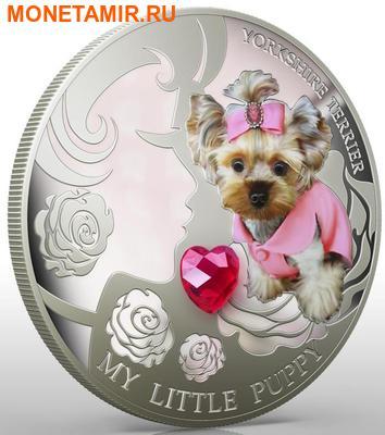 Фиджи 2 доллара 2013.Йоркширский терьер - Мой маленький щенок серия Собаки и кошки.Арт.000358046364/60 (фото, вид 2)