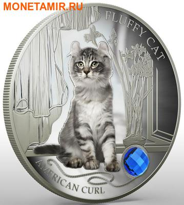 Фиджи 2 доллара 2013.Американский Керл - Пушистая кошка серия Собаки и кошки.Арт.000358046373/60 (фото, вид 2)