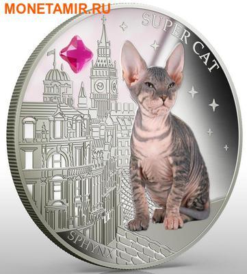 Фиджи 2 доллара 2013.Сфинкс - Супер кошка серия Собаки и кошки.Арт.000358046379/60 (фото, вид 2)