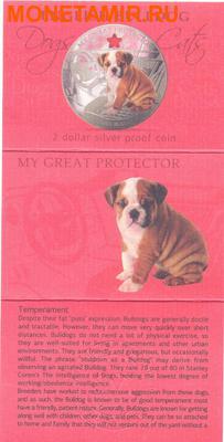 Фиджи 2 доллара 2013.Бульдог - Мой защитник серия Собаки и кошки.Арт.000358046388/60 (фото, вид 3)