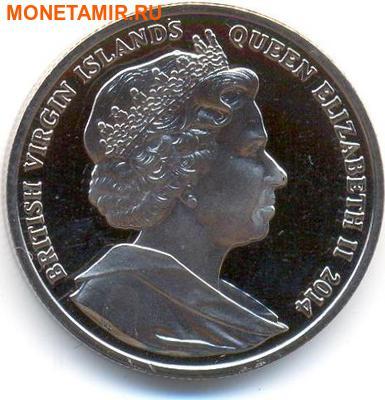 Британские Виргинские Острова 1 доллар 2014. «Морской конек».Арт.000032047231 (фото, вид 1)