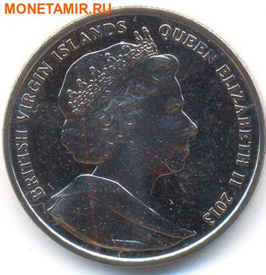 Британские Виргинские Острова 1 доллар 2013. «Поезд - Восточный Экспресс».Арт.000032047206 (фото, вид 1)
