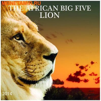 Буркина Фасо 1000 франков 2014 Лев Большая Африканская Пятерка (Burkina Faso 1000FCFA 2014 Big 5 Lion 1 oz Silver Coin).Арт.000626249801 (фото, вид 3)