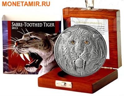 Буркина Фасо 5000 франков 2013. «Саблезубый тигр – Смилодон».Арт.000906846829 (фото, вид 2)