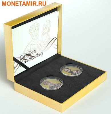 Ниуэ 2 доллара набор из 2 монет 2010. «Святые Апостолы Петр и Павел» серия «Православные Святыни».Арт.000664946404 (фото, вид 3)