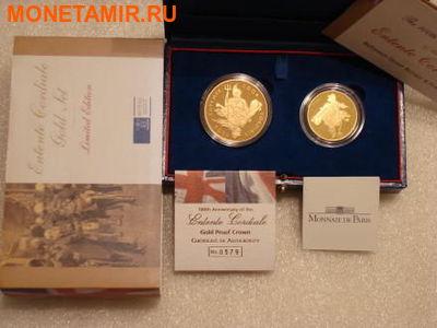 Великобритания 5 фунтов Франция 20 евро 2004 набор из двух монет. «100-летие образования Антанты между Англией и Францией». (фото, вид 5)