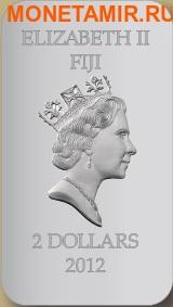 Фиджи 2 доллара 2012 набор из двух монет.«Иконы - Моисей» серия «Православные святыни».Арт.000767246421 (фото, вид 1)