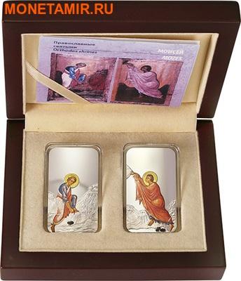 Фиджи 2 доллара 2012 набор из двух монет.«Иконы - Моисей» серия «Православные святыни».Арт.000767246421 (фото, вид 2)