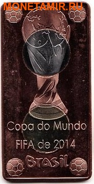 Кабинда 40 реал и 25 реал 2014 набор из двух монет. «Футбол – Бразилия Чемпионат Мира ФИФА 2014».Арт.000075047515 (фото, вид 1)
