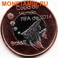 Кабинда 40 реал и 25 реал 2014 набор из двух монет. «Футбол – Бразилия Чемпионат Мира ФИФА 2014».Арт.000075047515 (фото, вид 2)
