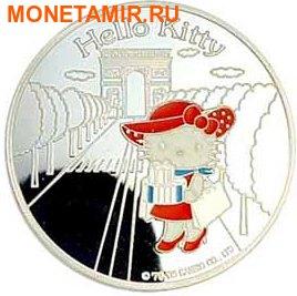Франция 1,5 евро 2005 набор из 3-х монет. «Привет Котенок – Hello Kitty». (фото, вид 1)