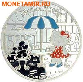Франция 1,5 евро 2005 набор из 3-х монет. «Привет Котенок – Hello Kitty». (фото, вид 2)