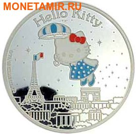 Франция 1,5 евро 2005 набор из 3-х монет. «Привет Котенок – Hello Kitty». (фото, вид 3)